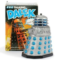 vinyl-plastic Talking Dalek toy, based on the character from the BBC-TV series Doctor Who, United Kingdom, by Palitoy Bradgate. Sci Fi Tv Series, Bbc Tv Series, Doctor Who, Dalek, Childhood Toys, Spaceships, Dr Who, Tardis, School Days