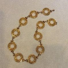 "Vintage Harwill Metal Link Belt Gold Tone Vintage medallion gold tone metal belt. Excellent vintage condition, just under 33"" long.🌟🌟🌟 Harwill Accessories Belts"