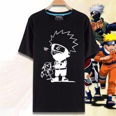 Naruto Black White Style T-Shirt