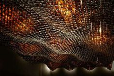 ceiling with bottles