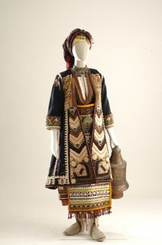 Bridal and festival costume from Makra Yefyra, Thrace, a region that is now part of Turkey. 19th-20th century. Museum of Greek Folk Art, Athens, Greece. [http://www.melt.gr/en/collection/the-collection/costumes-components; http://attica.unipi.gr/culture/article.php?article_id=110&lang=en; http://www.europeana.eu/portal/record/08540/_popup_php_photo_id_2643_lang_gr.html]