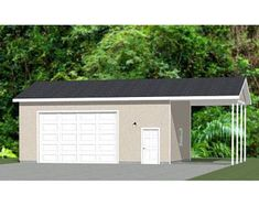 30x26 2-Car Garages 780 sq ft 12ft Walls PDF Floor   Etsy Stucco Siding, House Siding, Vinyl Siding, Garage Workshop Plans, 2 Car Garage Plans, Steel Garage Buildings, Building A Garage, Cabin House Plans, Free Shed Plans