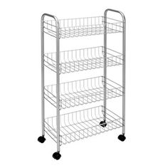 Metaltex Lugano Rolling Cart, 41 x 23 x 63 cm, Copper Polytherm *** Learn more by visiting the image link. (This is an affiliate link)