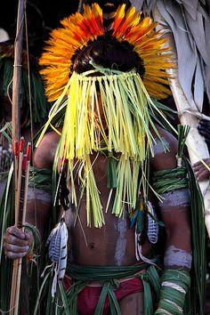amérindien de la tribu des enawene-nawe de la province du Mato Grosso, Brésil