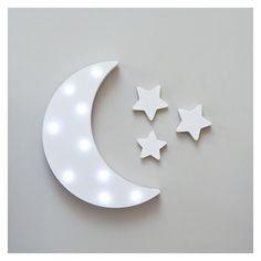 Διακοσμητικό φωτιστικό Φεγγάρι με αστεράκια