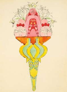 """From Warhol, With Love  """"Ice Cream Dessert"""" circa 1959 by Warhol 