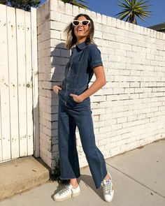 The Therman Jumpsuit by Chosen in Denim is a short sleeved collared jumpsuit in a dark navy denim with cropped frayed leg. Featuring breast and side pockets and a zip at the centre front for access. Shop the look today! Latest Fashion Design, Wide Leg Denim, Size Model, Flare Jeans, Collars, Overalls, Breast, Jumpsuit, Legs