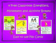 20 best after school physical activity program images on pinterest 4 free classroom energizers movement and activity breaks fandeluxe Image collections