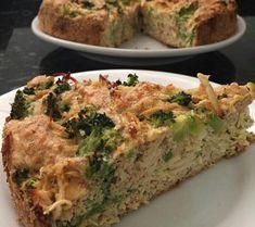 Torta low carb de frango com brocolis muito fácil de fazer