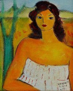 Figura de mulher, 1987 Humberto da Costa (Brasil, 1948) óleo sobre tela, 27 x 22 cm