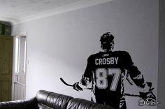 Custom Hockey player Wall art Decal sticker Choose Name number Custom decor boy bedroom - On Trends Avenue
