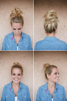 How to do a messy bun , good to know