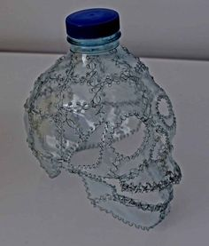 Skulls recycling in plastics art  with Upcycled Recycled Plastic Bottle Art
