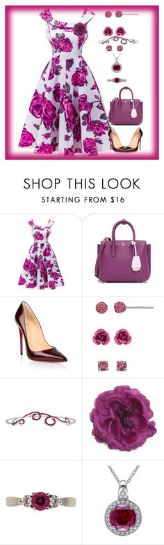 """Flora"" by bren-johnson ❤ liked on Polyvore featuring MCM, Christian Louboutin, Silver Luxuries, 1986 and Gucci"