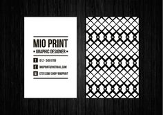 Black And White Business Card Design by MioPrint http://etsy.me/1rcrrTf