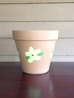 Inexpensive and easy gift! DIY painted terra-cotta pots- learn how at itsawonderfullife43.wordpress.com