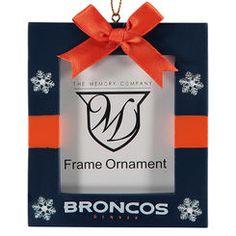 Denver Broncos Present Frame Ornament