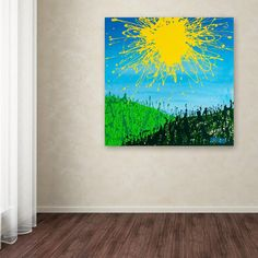 "14 in. x 14 in. ""Sun Valley"" by Roderick Stevens Printed Canvas Wall Art"