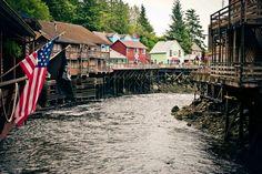 Creek Street, Ketchikan, Alaska.                   I've been here, and. It's soo coool!