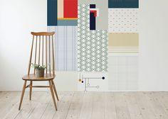 ... geel blauw groen roze kleurrijk behang 3 leontine mierop behang muren