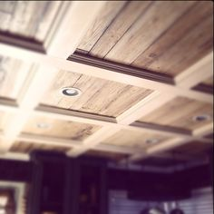 Coffered ceiling, kitchen, ceiling, rustic