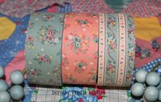 VINTAGE set of 3 rolls of Fabric Ribbon French Style. $6.95, via Etsy.