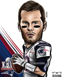 Will Tom Brady get his 5th ring today? Like for the Pats! #rgcartoons #superbowl #houston #superbowlLI #superbowl51 #TomBrady #newenglandpatriots #newengland #pats #patriots #brady #beard #quarterback #dope #fire #cool #football #nfl #blue #red #instacool #instagram #instagood #cartoon #caricature #nice #patriots #patsnation #afc #nfl #doyourjob