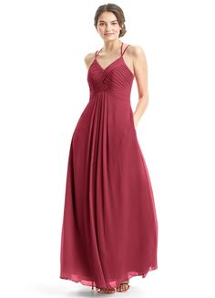 AZAZIE EDEN. Eden's classy yet modern design features a beautifully pleated bodice with amazing strap detailing at the back. #Bridesmaid #Wedding #CustomDresses #AZAZIE
