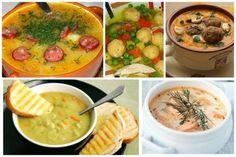 """Всеми любимые и давно известные рецепты - борщей, щей, солянок, ухи и т.п. мы давать не будем - это, так сказать, кухонная опция """"по умолчанию"""". Посоветуем несколько, может быть необычных, но не менее вкусных супов. Palak Paneer, Cheeseburger Chowder, Hummus, Mashed Potatoes, Soup, Cooking, Ethnic Recipes, Homemade Hummus, Kochen"""