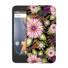Coolpad Catalyst Exotic Pink and White Flowers on Black Slim Case