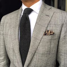 """""""#ootd #classic grey Prince of Wales check suit by @carusomenswear #shirt """"Sea Island cotton by @finamore1925 #tie knitted cashmere by @violamilano…"""""""