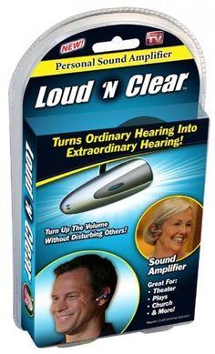 LOUD N' CLEAR PERSONAL SOUND AMPLIFIER AS SEEN ON TV  #AsseenonTV