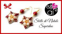 Peyote | Tutorial | Orecchini Stelle di Natale | Superduo | DIY earrings
