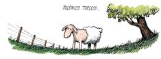 Ricardo Siri Liniers, Desde 2001 dibuja esta serie de cómics bajo el título de Macanudo. En ella, diversos personajes plantean reflexiones filosóficas, políticas, creativas y cotidianas. Humor Grafico, Painting & Drawing, Illustration, Moose Art, 1, Comics, Drawings, Animals, Sheep
