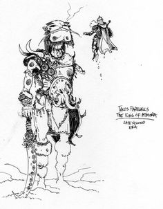 """Michael Kirkbride sketch of Talos and the """"King of Atmora"""""""