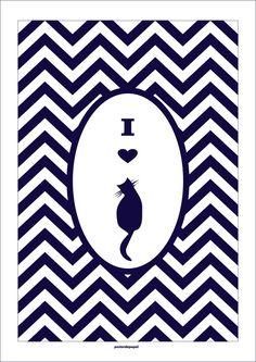 Poster Cat | Poster de Papel | Elo7