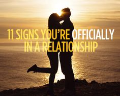 11 Signs You're OFFICIALLY in a Relationship  - Photo by: Shutterstock http://www.womenshealthmag.com/sex-and-relationships/signs-youre-officially-in-a-relationship?adbid=10152995165856788