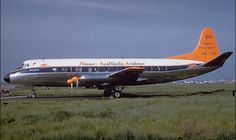 TAA Vickers Viscount 816 in the Dayglow livery (VH -TVP)