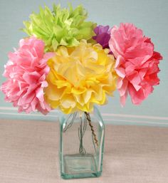 I don't know about you, but after the winter we've had I could really use some color in life, and spring just isn't springing fast enough! These paper flowers are a fun, simple an…