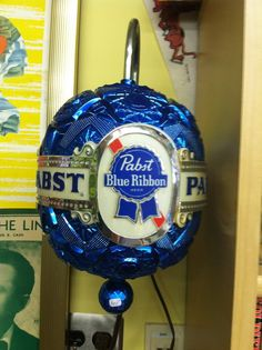 Vintage Pabst Blue Ribbon Beer Sign Electric SPINS!! $100 @ www.timewarp-vintage.com Vintage Beer Signs, Vintage Bar, Old Beer Cans, I Like Beer, Retail Signs, Deer Camp, Pabst Blue Ribbon, Beers Of The World, Beer Company