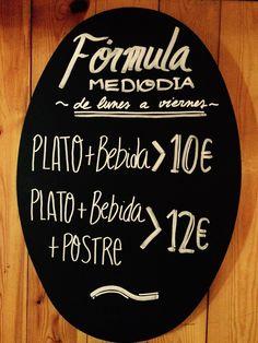 Recuperando el mítico plato combinado de siempre: Fórmula Mediodía...en El Canalla. #restaurante #Barcelona #sarrià