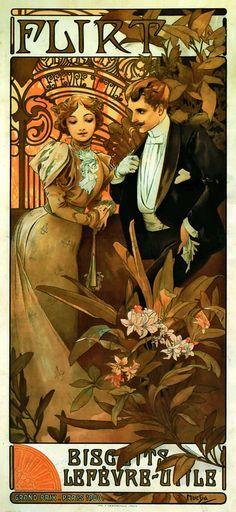 Alphonse Mucha. This looks a little earlier than 1904ish but still lovely.