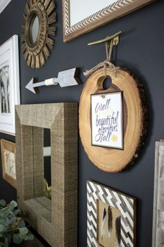 Gather Sign 5 Piece Set Rustic Gallery Wall Set Rustic