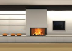 Tv Over Fireplace, Classic Fireplace, Fireplace Shelves, Modern Fireplace, Fireplace Mantle, Living Room With Fireplace, Living Room Wall Units, Living Room Cabinets, Living Room Designs