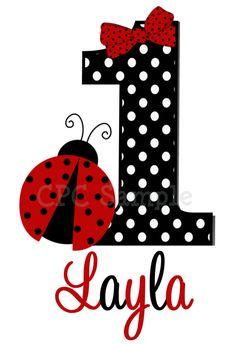 Ladybug Birthday T Shirt or Onesie by CutiesTieDyeBoutique on Etsy, $18.00