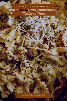 Best & healthy recipes of Instant Pot Creamy Garlic Parmesan Chicken Pasta Easy Healthy Pasta Recipes, Pasta Recipes For Kids, Creamy Pasta Recipes, Healthy Chicken Pasta, Vegetarian Pasta Recipes, Broccoli Chicken, Paleo Chicken Recipes, Pasta Dinner Recipes, Yummy Pasta Recipes