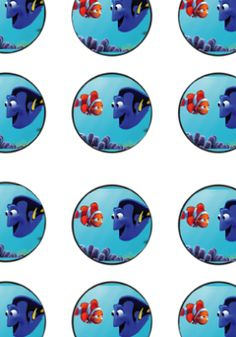 Finding Dory Nemo Birthday Party Printable cupcake toppers and banner
