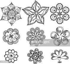 Vector Art : Doodle Flowers