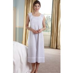 Contemporary Louisa Sleeveless Cotton Nightgown White Pattern From The  Irish Linen Store. Linen Store b624401e8