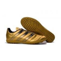 low priced e6f67 9de31 2017 Adidas ACE 16.3 TF Mens Football Boot Gold Black, Free Shipping!